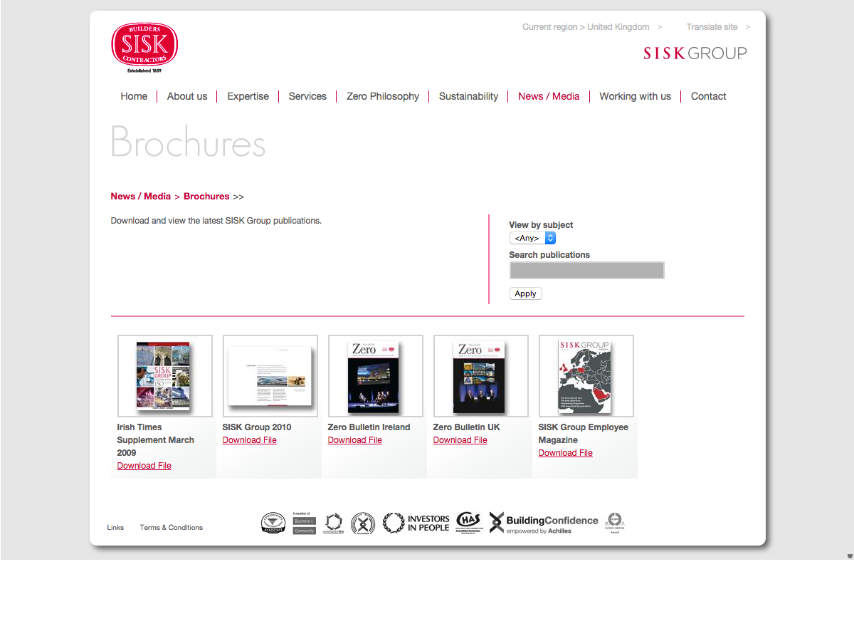 John Sisk and Son - Brochure download