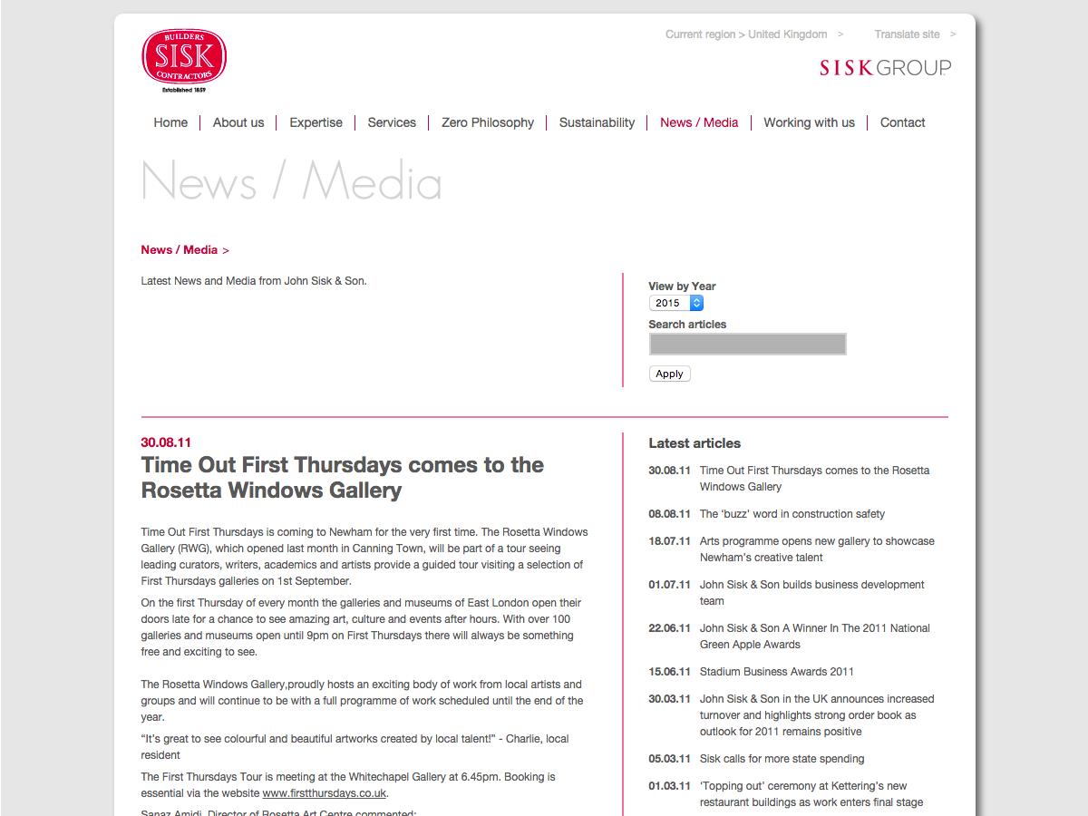 John Sisk and Son - News and Media