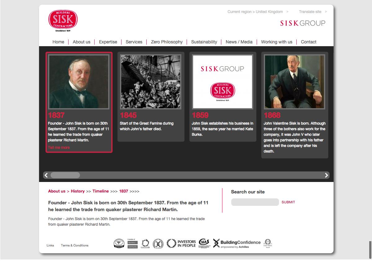 John Sisk and Son - History Timeline