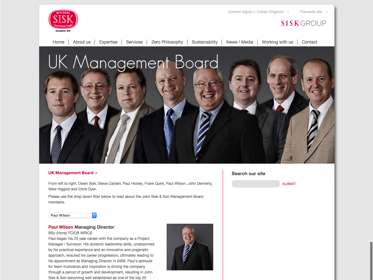 John Sisk and Son - UK Management board - John Wilson