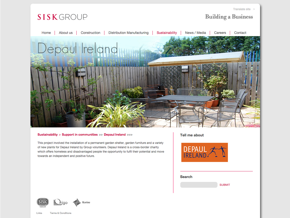 Sisk Group - Social projects