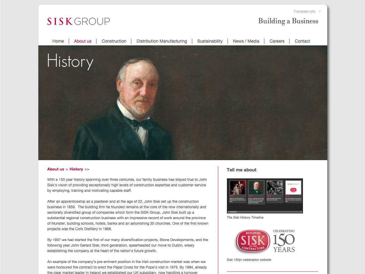 Sisk Group - History