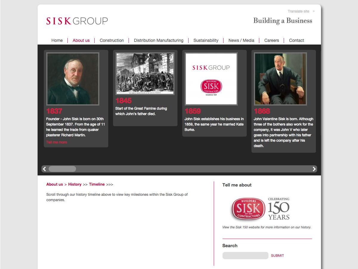 Sisk Group - Timeline