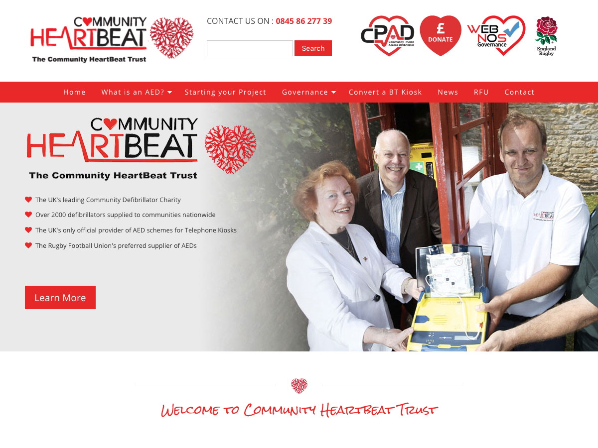 Community Heartbeat Trust website