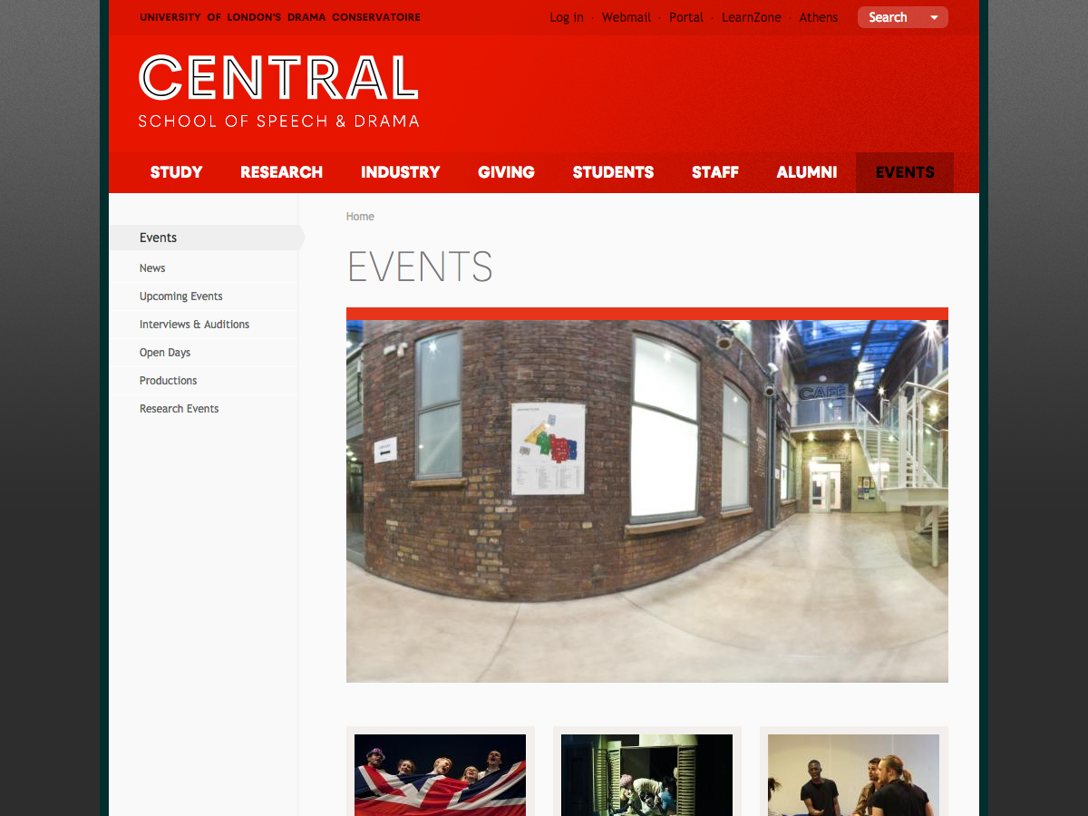Central School of Speech and Drama - Events