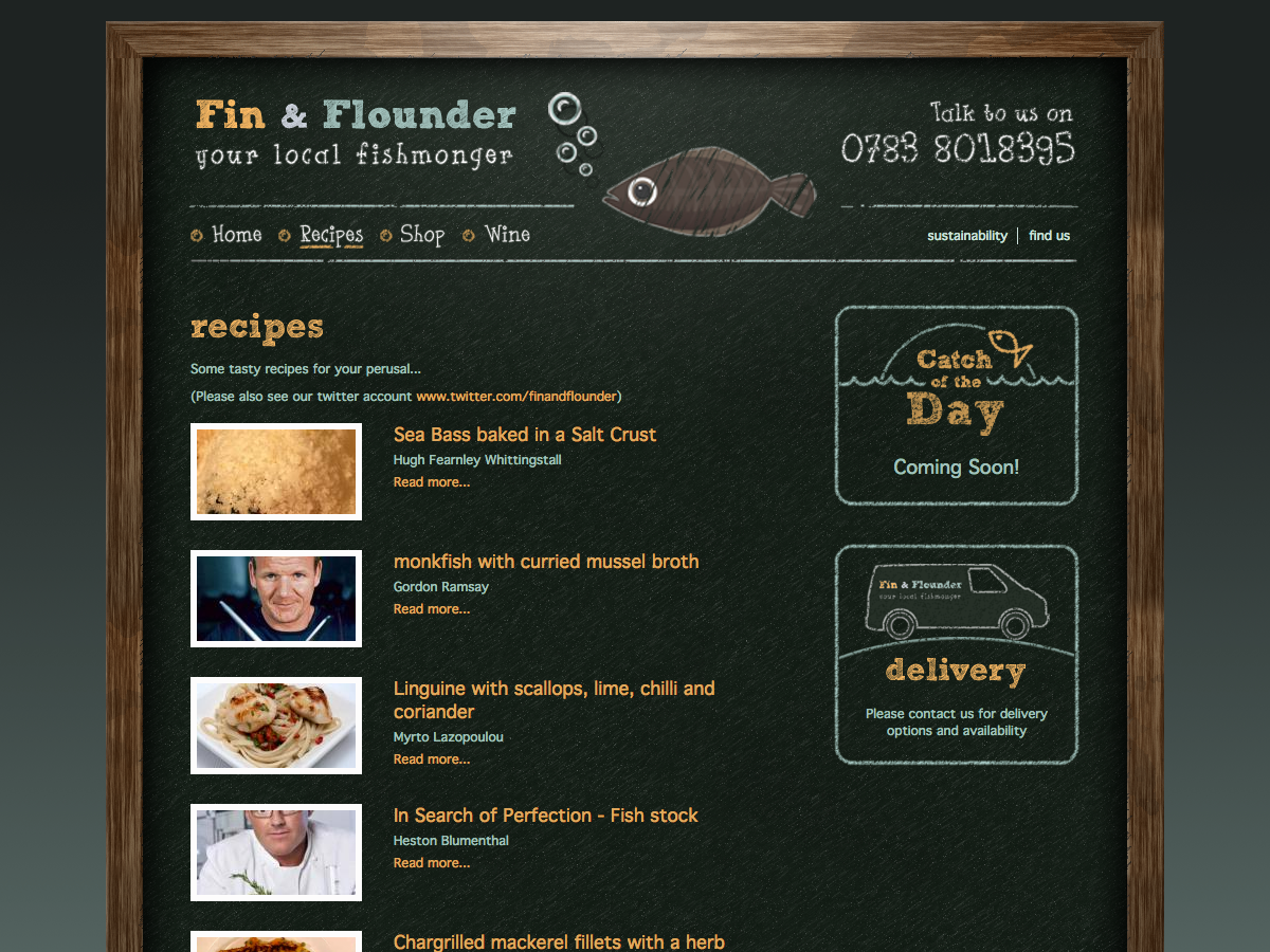 Fin and Flounder - Recipes