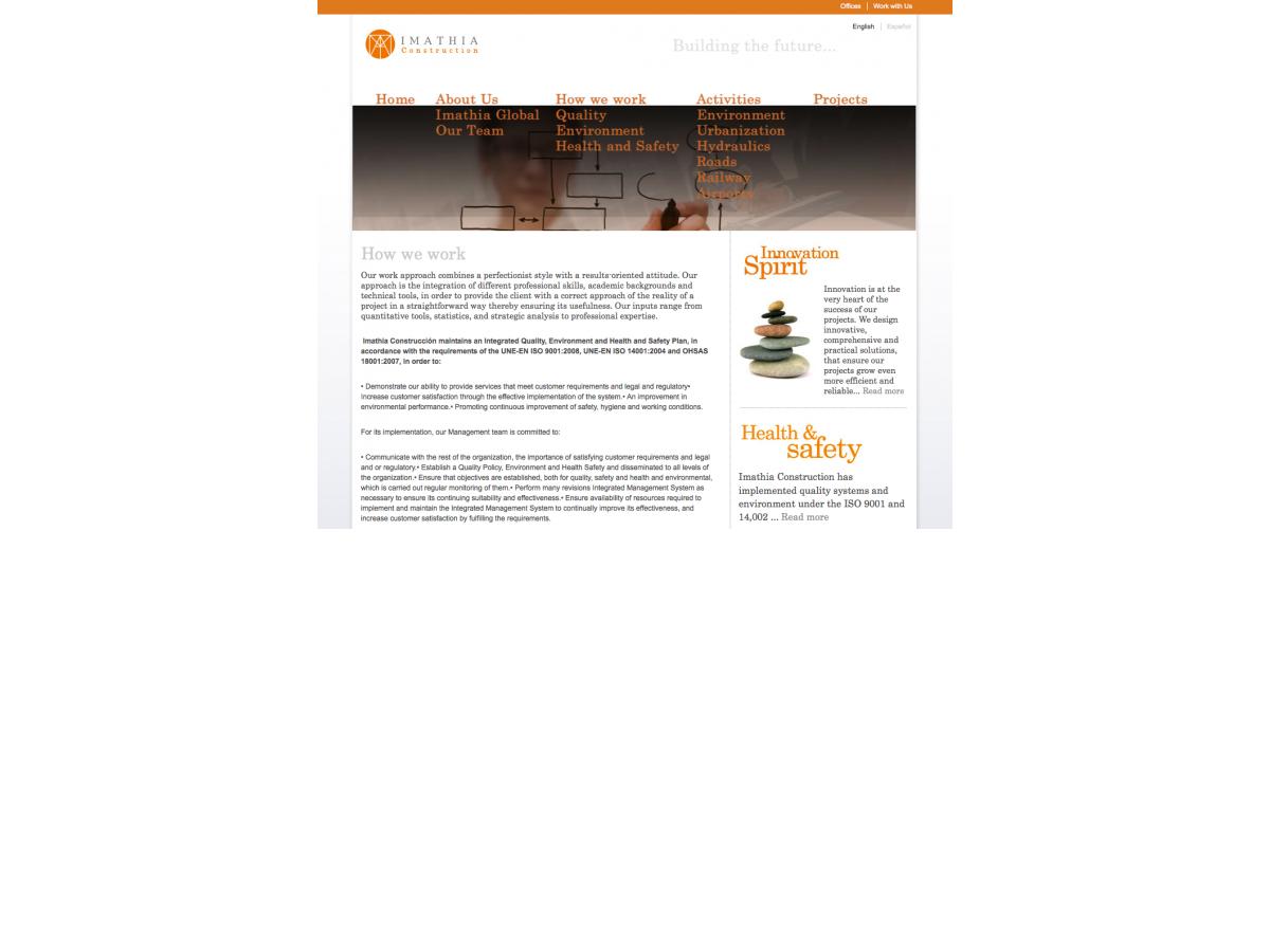 Imathia Construction - Basic page