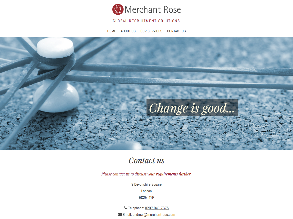 Merchant Rose Contact Page