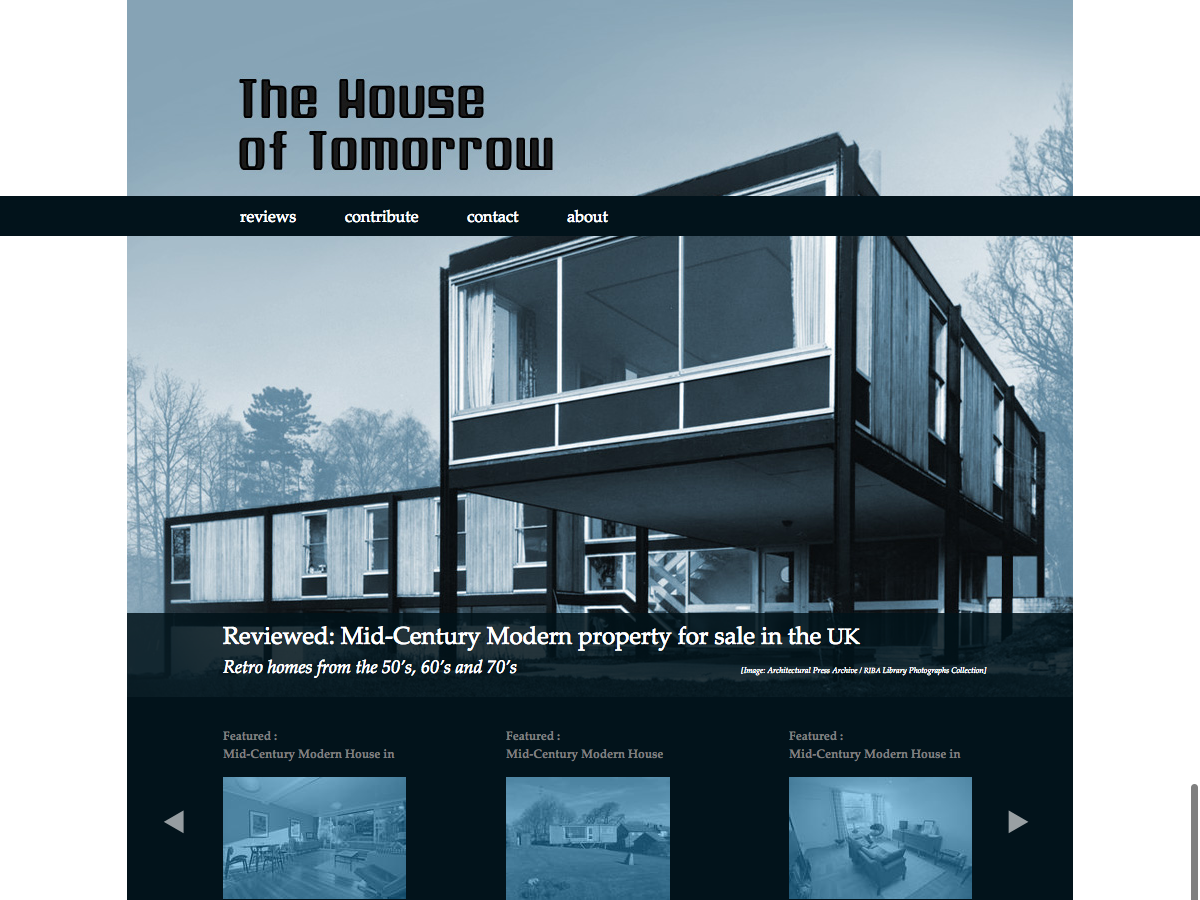 House of Tomorrow - Home page