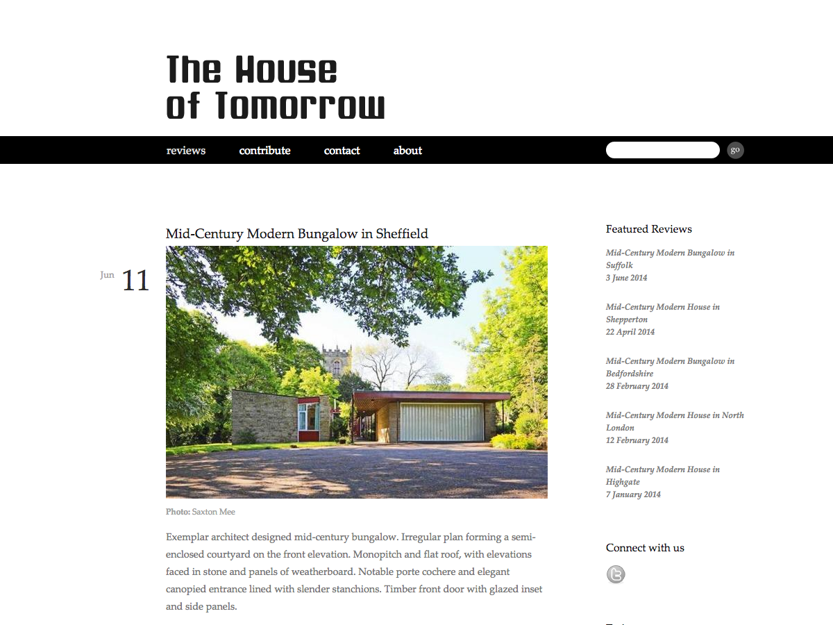 House of Tomorrow - Reviews