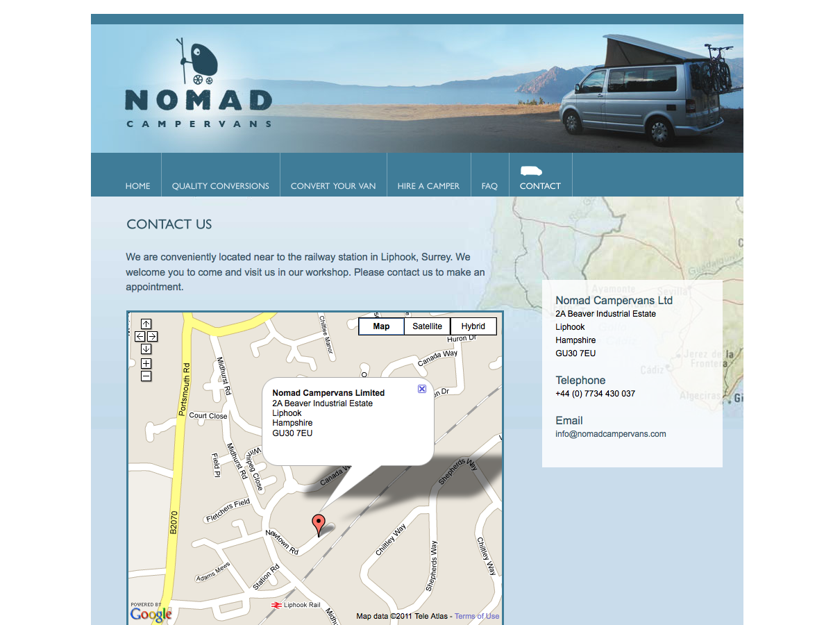 Nomad Campervans - Contact