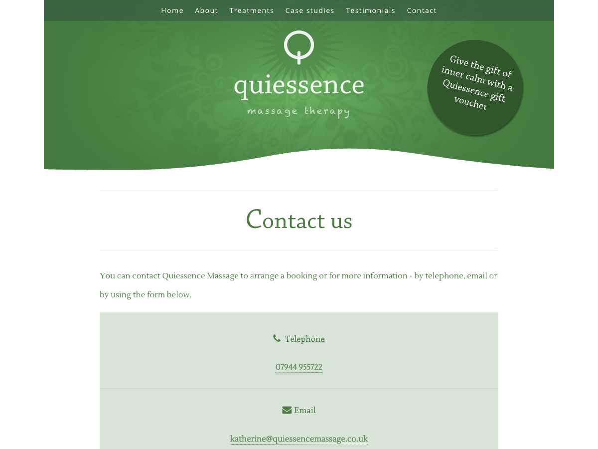 Quiessence Massage - Contact