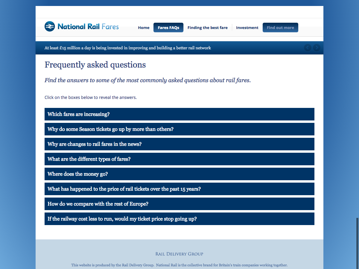 Rail Fares 2014 - Frequently Asked Questions