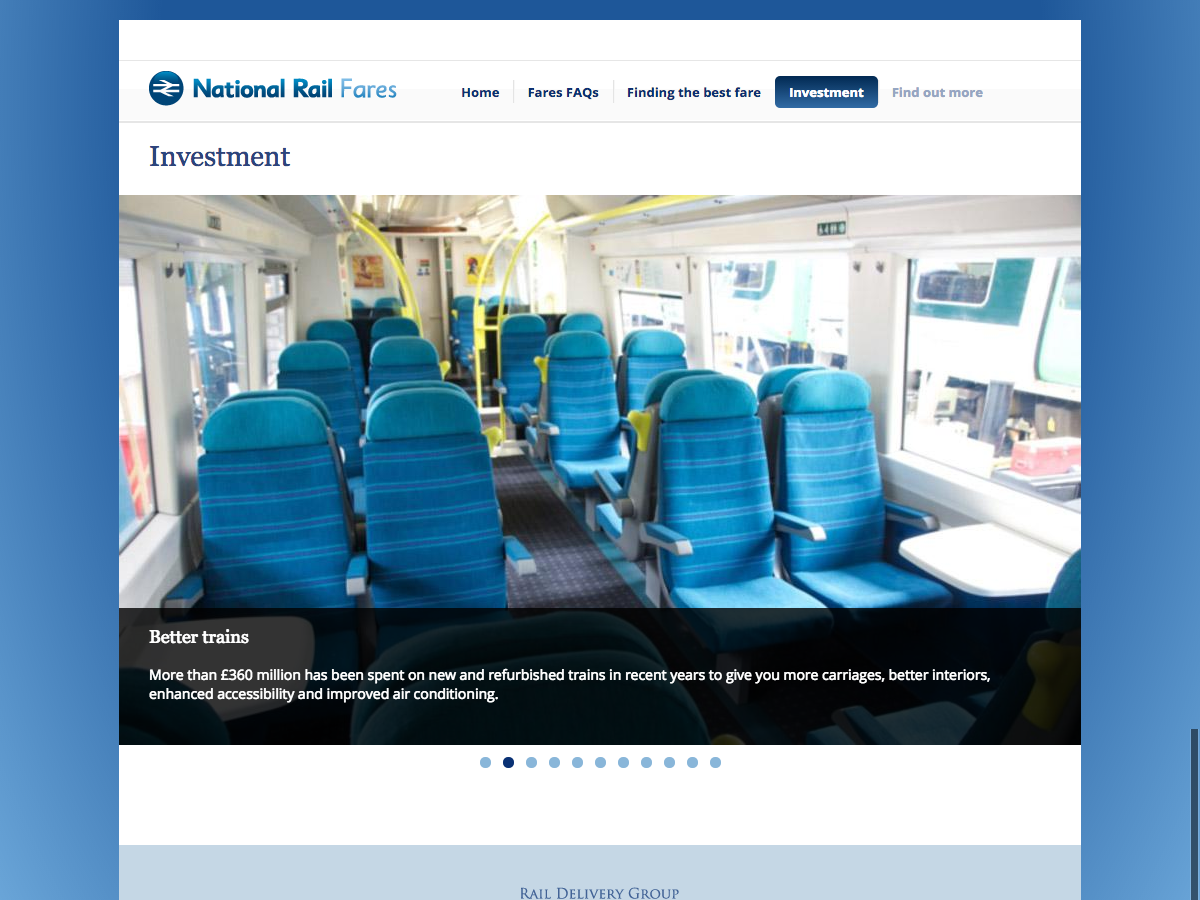 Rail Fares 2014 - Investment