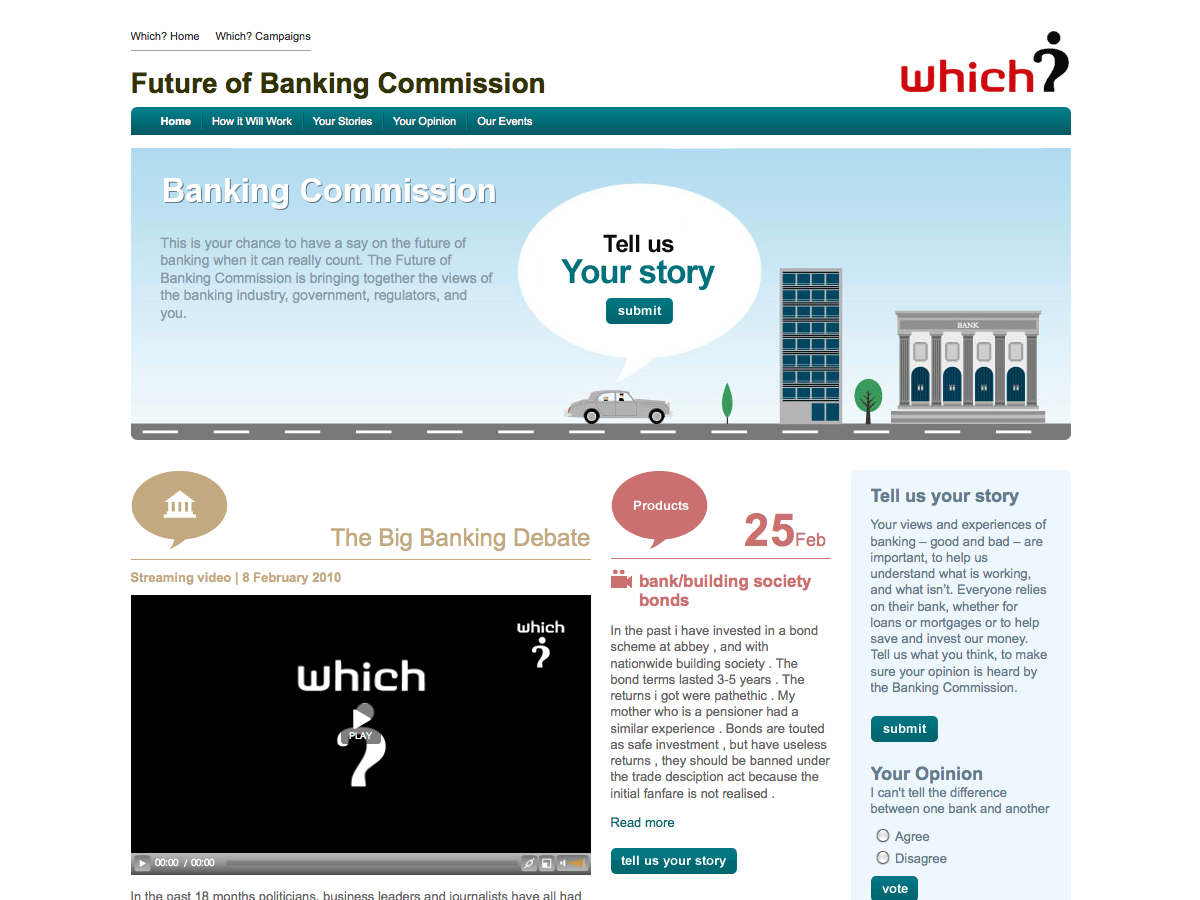 Which? Future of Banking
