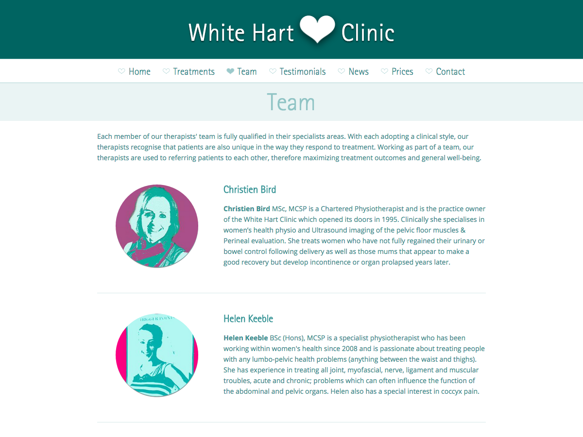 White Hart Clinic - The Team