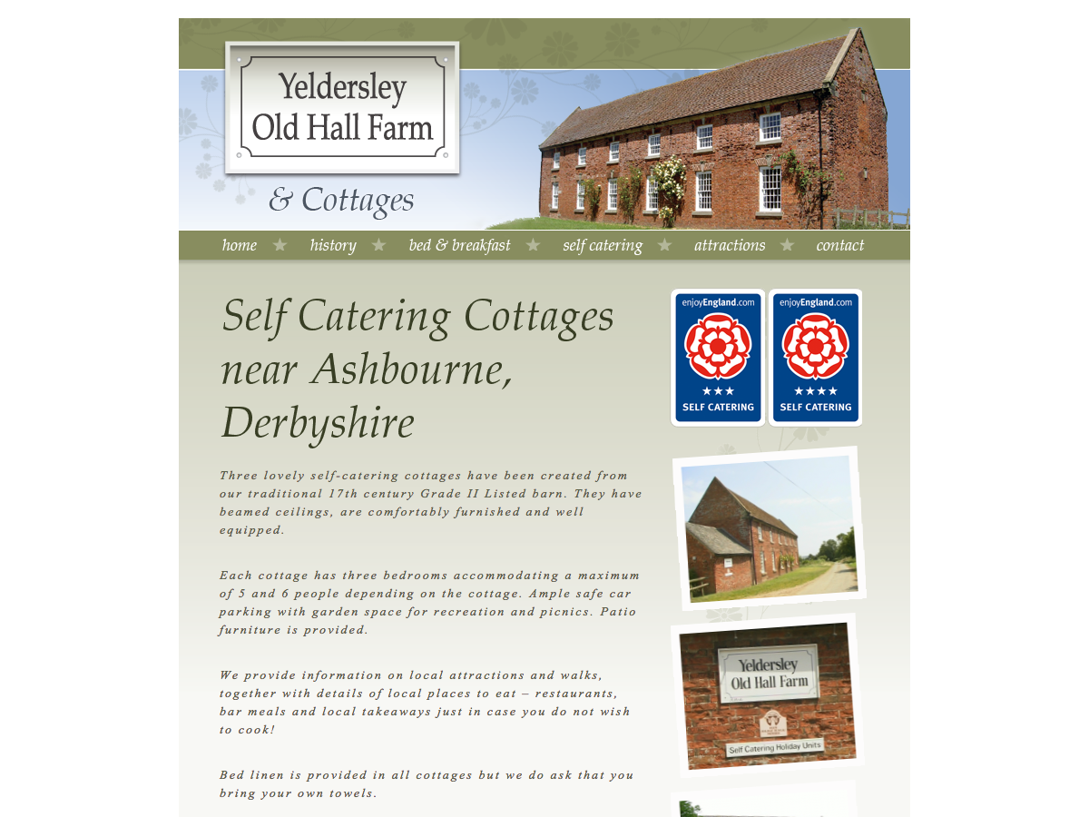 Yeldersley Old Hall Farm - Self Catering