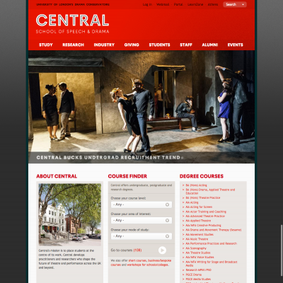 Central School of Speech and Drama - Homepage